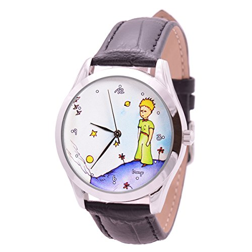 Watch For Men And Women - Japan Movt - Black Leather Band - Quartz Analog Unisex Wrist Watch 38mm - The Little Prince - Best Original Unique Avesome Gift