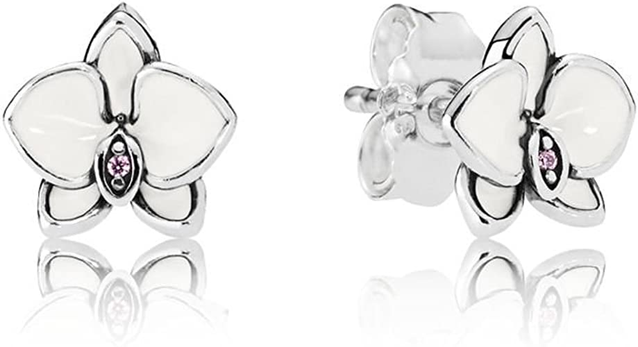 Pandora Orchid Damen Ohrstecker 925 Sterlingsilber