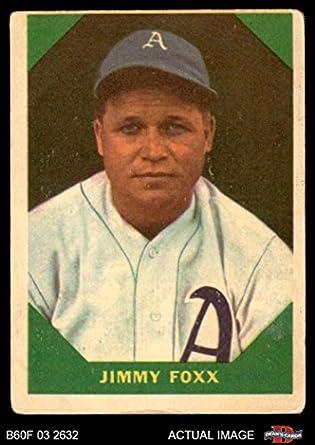 Amazoncom 1960 Fleer 53 Jimmie Foxx Philadelphia