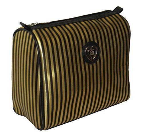 by SUZY SMITH SUZY SMITH GOLD AND BLACK MAKE UP TRAVEL OR WASH BAG
