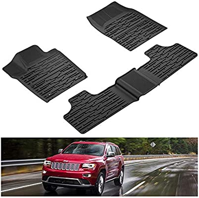 Weatherbeater Front /& Rear Floor Mats 2011-2018 Fit For Jeep Grand Cherokee