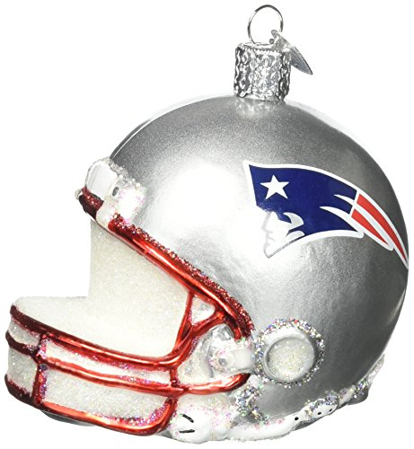 - Old World Christmas Glass Blow Christmas Ornament New England Patriots Helmet