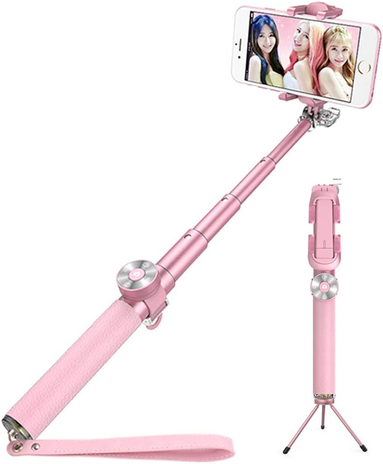Wgwioo Extendable Selfie Stick Tripod with Bluetooth