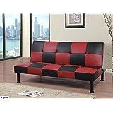 Beverly Fine Furniture F2104 Checkered Futon Sofa Bed