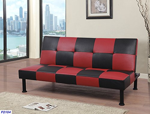 Beverly Fine Furniture F2104 Checkered Futon Sofa Bed, 64