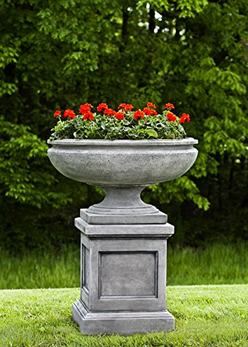 St. Louis Planter with Pedestal, Copper Bronze Finish Copper Pedestal Planter