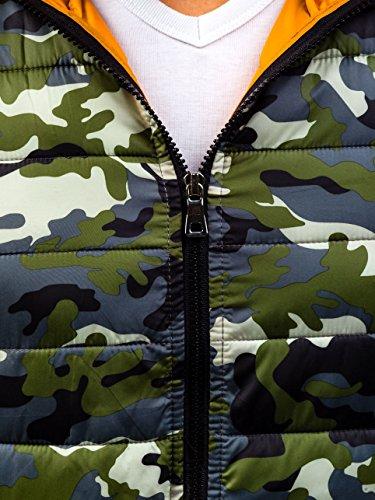 Stile Motivo Uomo Militare Giacca – Verde 4d4 Casual Cappuccio Bolf Sport Cerniera ICgqwx