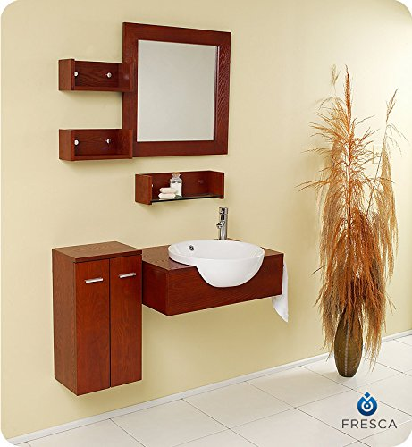 Fresca Bath FVN3520 Stile Modern Bathroom Vanity with Mirror and Side Cabinet by Fresca Bath