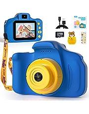 Digitale kindercamera voor meisjes, Peradix Kinderen Digitale Camera HD-videocamera voor kinderen van 3-10 jaar, Mini-selfiecamera voor kinderen met SD-kaart van 32 GB, cadeau voor kinderen