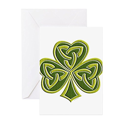 CafePress - Celtic Trinity - Greeting Card (20-pack), Note Card with Blank Inside, Birthday Card Glossy