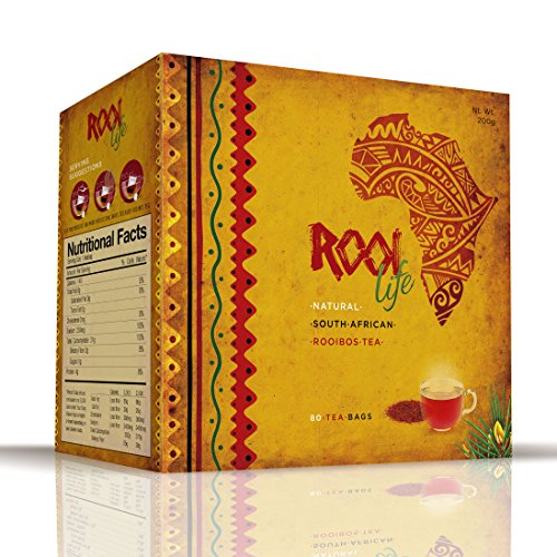 RooiLife South Africa's #1 Organic Rooibos 100% Caffeine Free, Calorie Free Experience the Amazing Health Benefits of Red Bush, Anti-Oxidant Rich, Non-Gmo Herbal Tea Bags ()