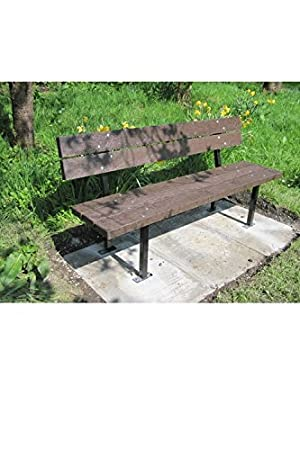 Sensational Heavy Duty Jesmond Bench Made From Recycled Plastic Ideal Customarchery Wood Chair Design Ideas Customarcherynet