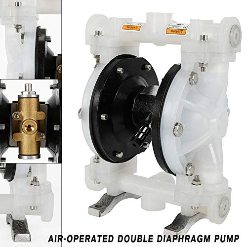 (TBvechi Pump, Air-Operated Double Diaphragm Pump, QBY-15PP Air-Operated Double Diaphragm Pump Air-Operated Cast Iron Petroleum Fluids 0-1m³/H Discharge Sewage)