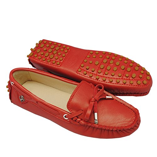 Minitoo ,  Damen Sandalen Rosso (Red-Leather)