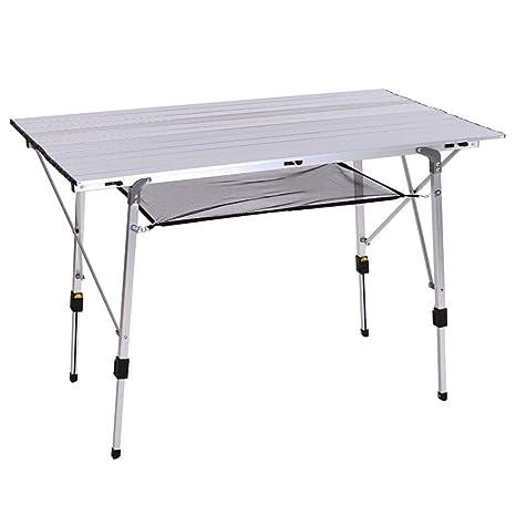 Mesa de Picnic Plegable Al Aire Libre Malla de Aluminio ...