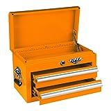 Viper Tool Storage V218MCOR 18-Inch 2-Drawer 18G Steel Mini Storage Chest w/ Lid Compartment, Orange