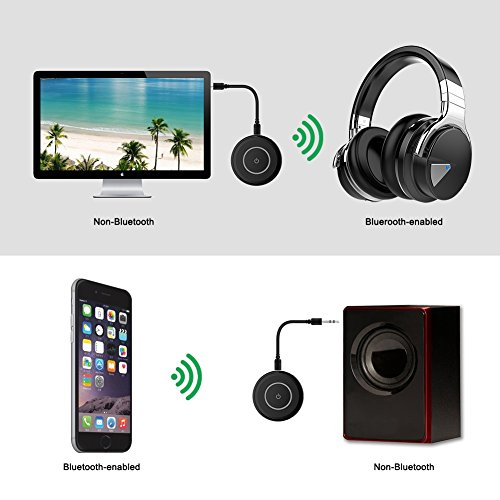 Giveet Bluetooth V4.1 Transmitter and Receiver with aptX Low Latency, Wireless Bluetooth Audio Streaming Adapter for TV, PS4, XBOX, PC, Headphones, Home Sound Car Stereo Speaker with 3.5mm or RCA Jack by Giveet (Image #6)