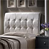 Hillsdale Lusso Headboard In White Faux Leather – King|No