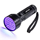 LOFTEK 51 UV Ultraviolet Flashlight 395 nM LED Handheld Blacklight Perfect Urine and Bed Bug Detector,Scorpion Hunting Light 3 AA Battery(not included)
