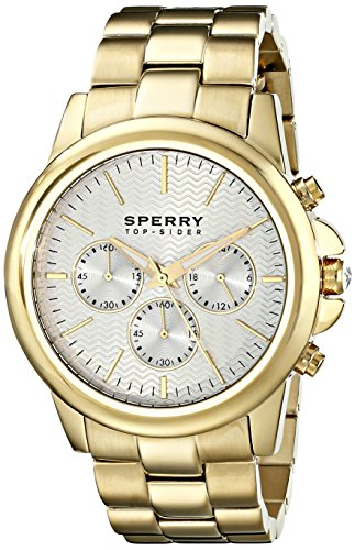 Sperry Top-Sider Men's 10015150 Halyard Analog Display Japanese Quartz Gold Watch