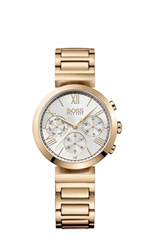 Hugo Boss Classic Women Sport Womens Quartz Silver Chronograph Rose Gold  Stainless Steel Bracelet 1502399  Amazon.co.uk  Watches a9a17bb0b141