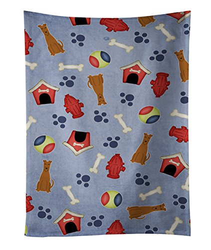 Caroline's Treasures BB2675KTWL Dog House Collection Irish Terrier Kitchen Towel, 25