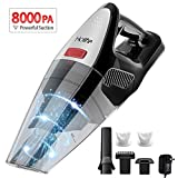 Handheld Vacuum Cordless, Holife 8KPA Hand Vacuum Cleaner Rechargeable Hand Vac, 21.9V Lithium 100W Strong Motor Cyclone Suction, Lightweight Wet Dry Vacuum Home Pet Hair Car Cleaning