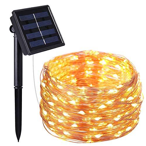 Echoming Cadena Luces Solares, 200 LED 72ft Solar Guirnalda de Luces IP65 Impermeable Luz de Jardín para Navidad, Patio,...