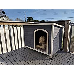 A4Pet Outdoor Medium Dog House for Medium Dogs