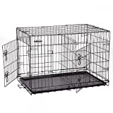 PetDanze Extra Large Dog Kennels | XXL Pet Carrier Travel Cage | Indoor Outdoor Outside Collapsible Portable Folding Wire Metal Crate | Double-Doors with Divider and Tray | 48x30x32 inches (LxWxH) Review