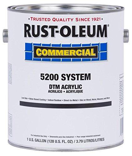 Rust-Oleum Commercial 5274402 DTM Acrylic- Semi-Gloss Black, 1-Gallon