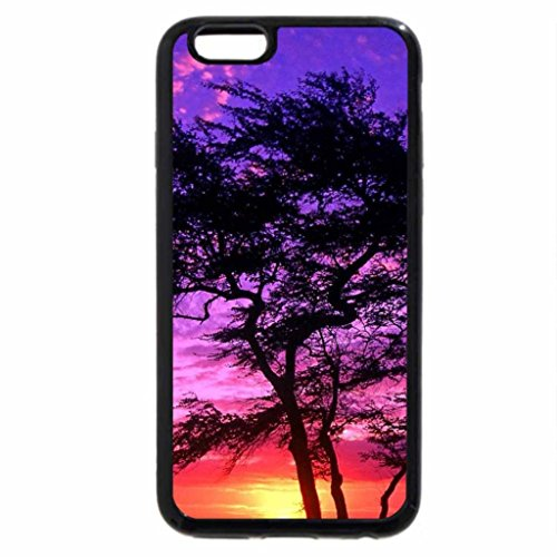 iPhone 6S / iPhone 6 Case (Black) tree at purple sunset in hawaii
