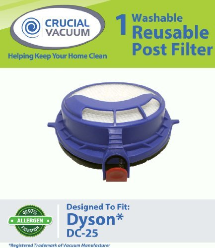 Post HEPA Filter fits Dyson DC25 Vacuum Cleaner; Washable and Reusable; Replaces Dyson DC25 Filter Part # 916188-05, 91618805, 916188 05, Appliances for Home