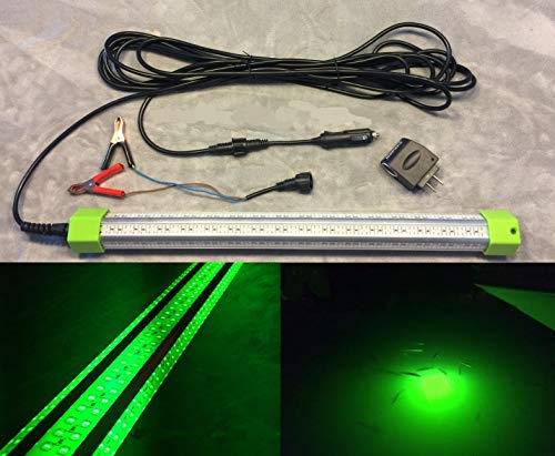LED 84 Watt, 10,368 Lumen, Green Underwater Fishing Light, Accs. Included. Saltwater or Fresh