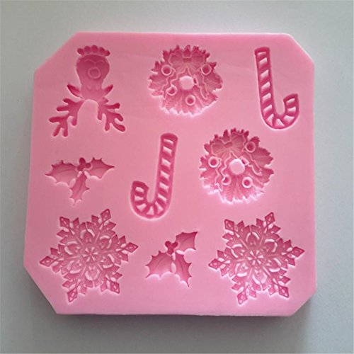 FantasyDay Christmas Snowflakes Candy Stick Silicone Cake Mold Chocolate Sugarcraft Decorating Fondant Fimo Tool for Your Soap, Mini Teacake, Fondant, Candy, Ice Cube, Candy, Cookie, Gummy and More #3