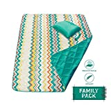 DOZZZ Foldable Compact Waterproof And Sand proof Picnic Blanket For Camping, Beach, Outdoor, Park, Grass, Travel, Festivals, Sporting Events