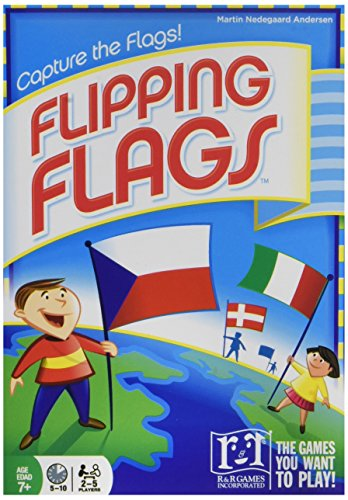 Flipping Flags Card Game (Flags Of The World Game For Kids)