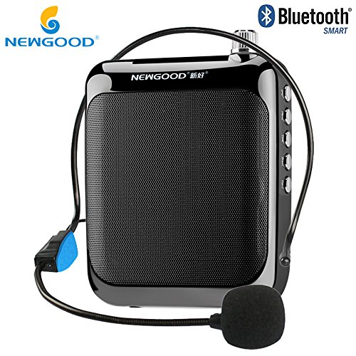 NEWGOOD Classroom Teachers Professional Personal Wired Voice Amplifiers Headset Microphone for Coach Training,Yoga,School Classroom Presentation,Tour Guide System (Black) by NEWGOOD