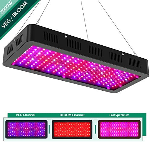 1000W LED Grow Light Full Spectrum for Indoor Plants Veg and Flowers, Professional Lamp for Hydroponic Greenhouse with Adjustable Power Switch