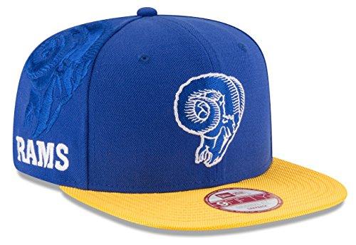 New Era Los Angeles Rams Blue On-Field Sideline Classic 9FIFTY Snapback Adjustable Hat/Cap