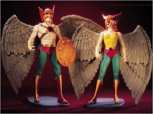 Hawkman & Hawkgirl Deluxe Action Figure Set by DC Comics]()