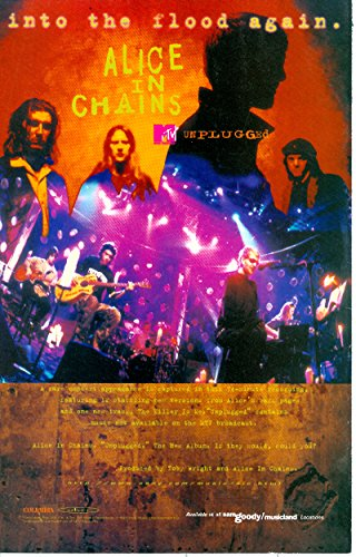 Alice in Chains: MTV Unplugged: into the Flood again: Great Original Album Photo Print Ad (Alice In Chains Down In A Hole Unplugged)