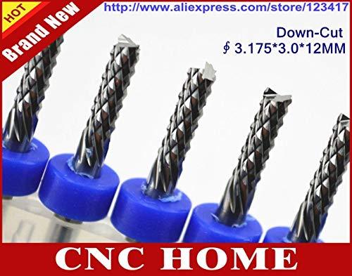 1 lot 10pcs/lot 3.1753.012MM Down-Cut PCB Cutters Carbide CNC End Mills Tools for Mobine Phone PDA Digital Camera ()