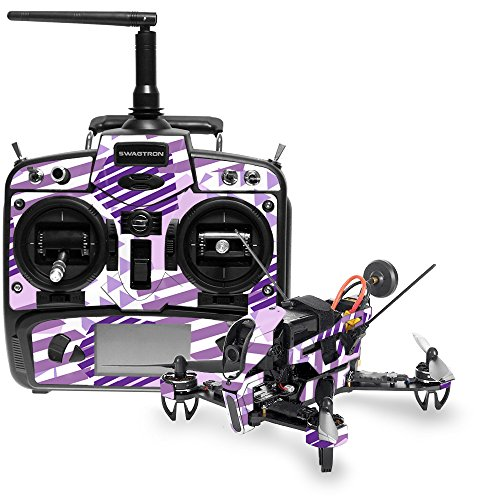 MightySkins Skin for Swagtron SwagDrone 210-UP - Purple Pentagon | Protective, Durable, and Unique Vinyl Decal wrap Cover | Easy to Apply, Remove, and Change Styles | Made in The USA
