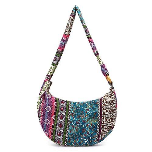 Purple Bag Vintage Shoulder JAGENIE Messenger Boho Ethnic Tote Purple Crossbody Hippie Bags New Women qwBXS7
