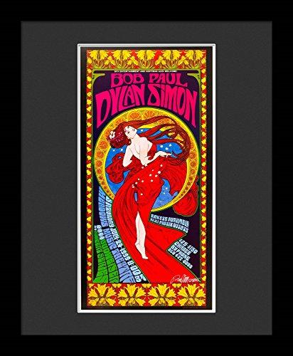 Bob Dylan Framed Concert Poster By Bob Masse