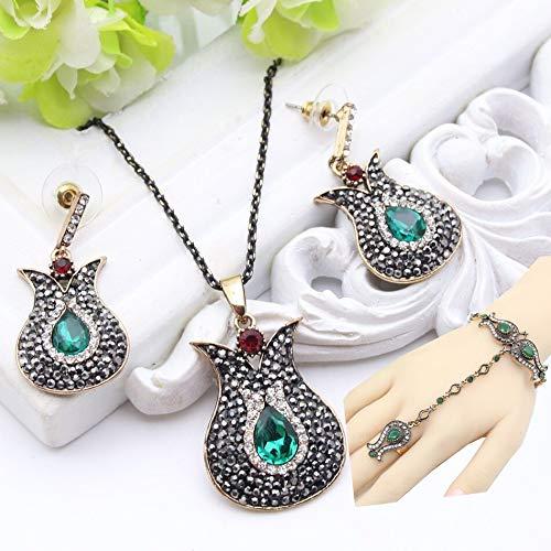 - Gorgeous Turkey Tulip Bracelets | Femme Flower Antique Matching Bracelets & Bangles | Resin Rhinestone | for Women