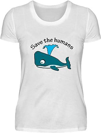 Desconocido Salven a los Humanos - Ballena - Camisa de Damas: Amazon.es: Ropa y accesorios