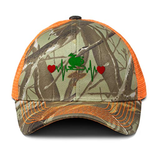 Camo Mesh Trucker Hat Frog Lifeline A Embroidery Neon Hunting Baseball Cap