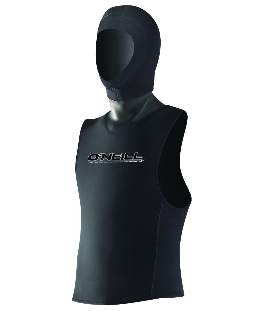 O'Neill Wetsuits Mens 3 mm Vest w/Hood, Black, Small by O'Neill Wetsuits